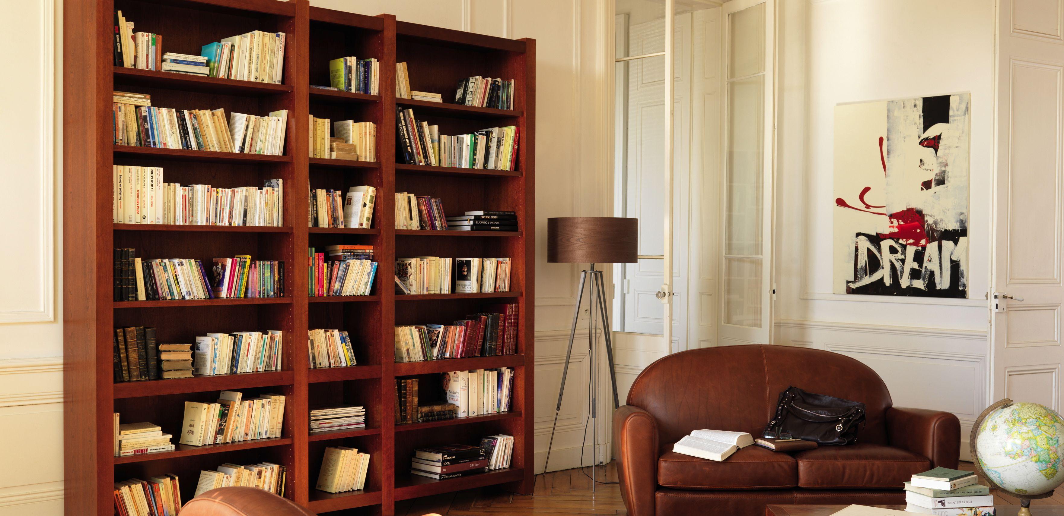 Bibliothèques chêne massif contemporaine - Coup de Soleil ...