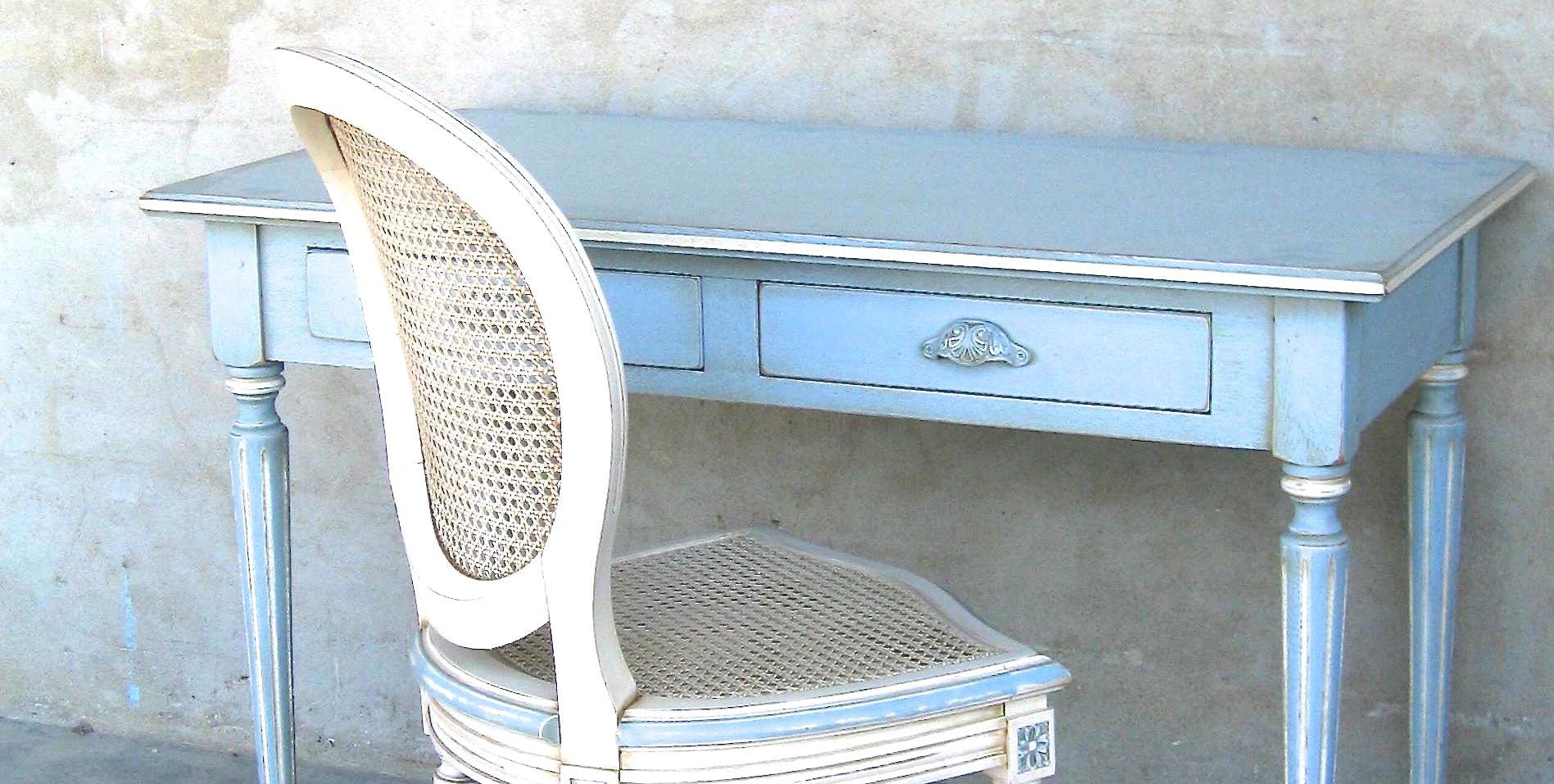 Bureau Patine Blanc Meubles Patines Fabriques En France Meubles Coup De Soleil