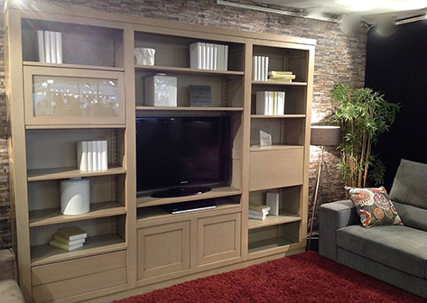 Meuble bibliotheque tv contemporain solutions pour la for La maison contemporaine meubles