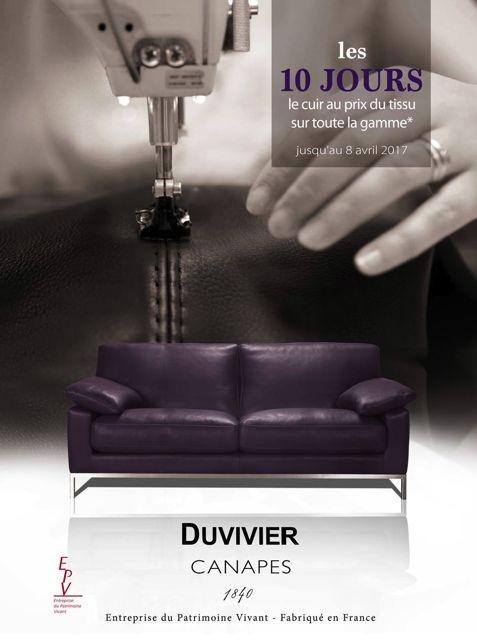Canap s haut de gamme cuir et tissu coup de soleil mobilier for Canape duvivier prix