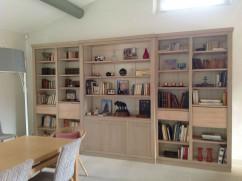 Bibliothèque bois massif design sur mesure - Coup de Soleil ...