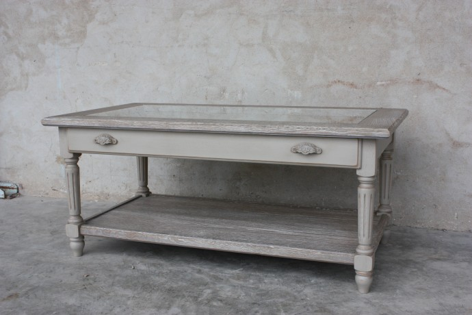Table basse bois patin cheap table basse bois patin with for Vitre pour table basse