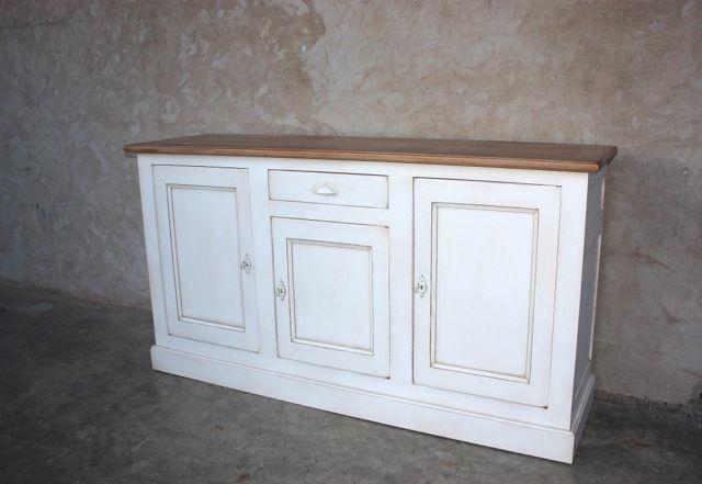 Buffet patin blanc rialto coup de soleil mobilier for Meubles de charme patines