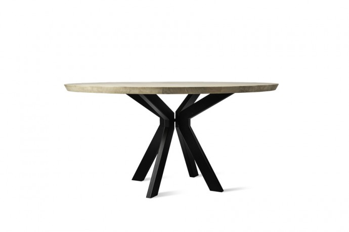 table-ronde-pied-central-moderne