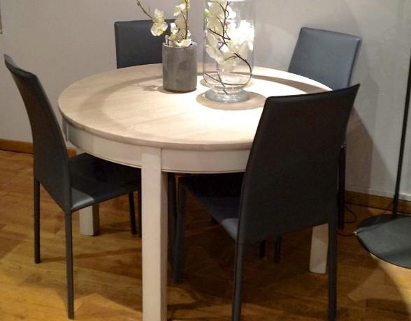 table ronde contemporaine lisa coup de soleil mobilier. Black Bedroom Furniture Sets. Home Design Ideas