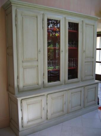 buffet 4 portes peint coup de soleil mobilier. Black Bedroom Furniture Sets. Home Design Ideas